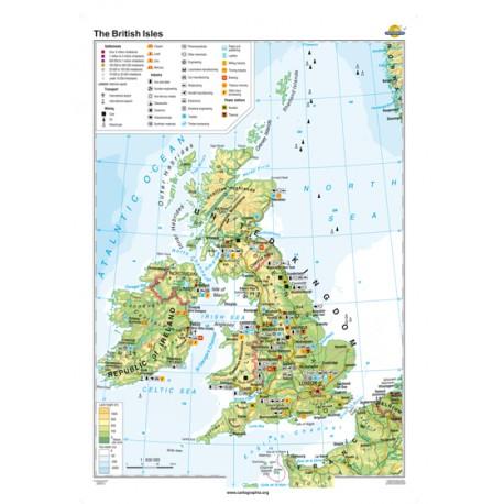 Marea Britanie şi Irlanda 160x120 cm