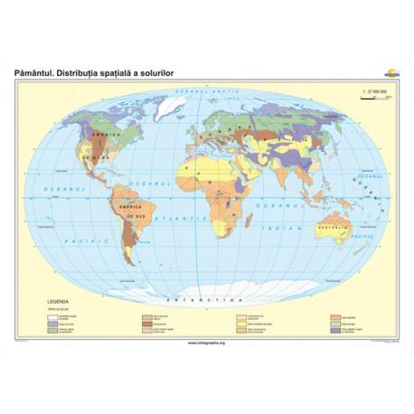 Pământul. Distribuţia spaţială a solurilor 160x12