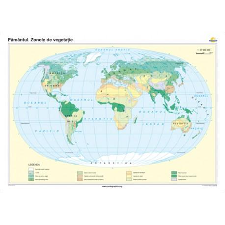 Pământul. Zonele de vegetaţie 160x120 cm
