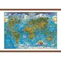 Harta lumii pentru copii 700x500mm