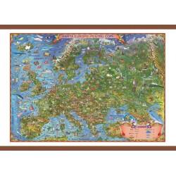 Harta Europei pentru copii 700x500mm