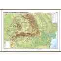 Romania. Harta fizico-geografica si a resurselor naturale de subsol - bilingv 140x100 cm