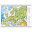 Europa. Harta fizica si politica 700x500mm
