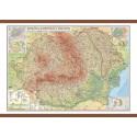 Romania si Republica Moldova. Harta fizica, administrativa si a substantelor minerale utile 1000x700mm
