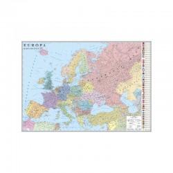 Europa. Harta politica (fata) / Harta de contur (verso)