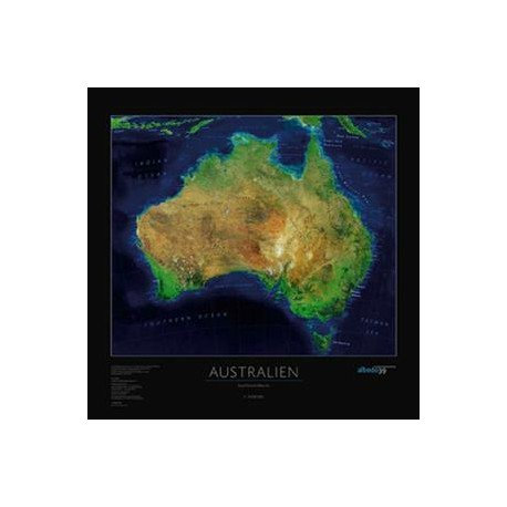 Australia. Harta continent albedo 39