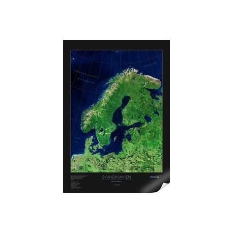 Scandinavia. Harta regionala albedo 39