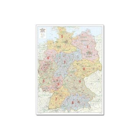 Harta codurilor poştale Germania, mare Bacher Verlag