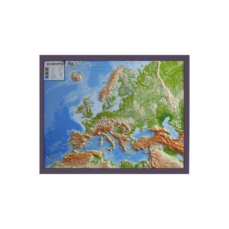 Geo Institut Harta In Relief A Europei In Germana Geostore Ro